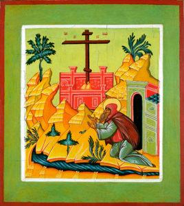 Преподобный Савватий Оршинский. Икона из музея Андрея Рублева