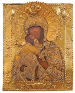 Феодоровская икона Божией Матери из Оршина монастыря                           (Тверская областная картинная