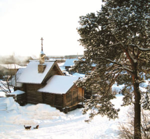 Храм в честь преподобного                                     Савватия Оршинского в Вознесенском Оршине монастыре